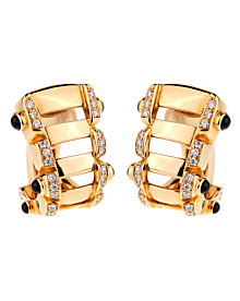 Patek Philippe Diamond Sapphire 18k Rose Gold Earrings - Patek Philippe Jewelry