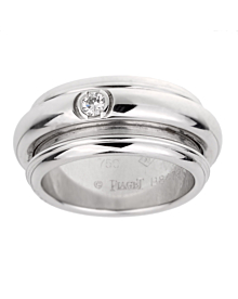 Piaget Possession White Gold Diamond Band Ring Sz 9 - Piaget Jewelry