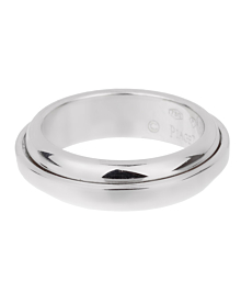 Piaget Possession White Gold Band Ring Sz 6