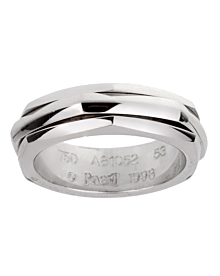 Piaget Possession Hexagon Spinning White Gold Ring Sz 6 1/2 - Piaget Jewelry