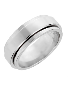 Piaget Possession White Gold Spinning Ring Sz 7 3/4 - Piaget Jewelry