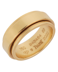 Piaget Possession Yellow Gold Spinning Ring Sz 6 1/2 - Piaget Jewelry