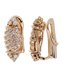 Piaget Vintage Diamond Yellow Gold Earrings - Piaget Jewelry