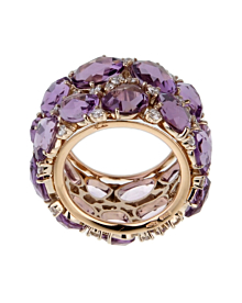 Pomellato Lulu Amethyst Diamond Rose Gold Ring - Pomellato Jewelry