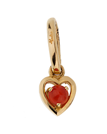 Pomellato Coral Yellow Gold Heart Pendant