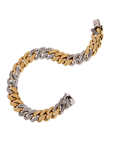 Pomellato Curb Diamond Yellow Gold Bracelet