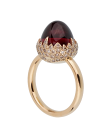 Pomellato 6 Carat Garnet Diamond Rose Gold Ring
