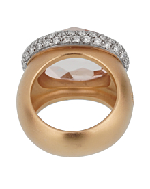 Pomellato 13 Carat Morganite Diamond Rose Cocktail Ring Sz 7 - Pomellato Jewelry