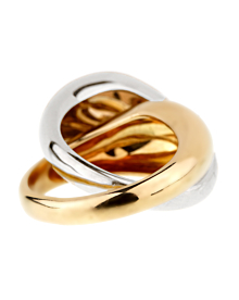 Pomellato Two Tone Gold Cocktail Ring - Pomellato Jewelry