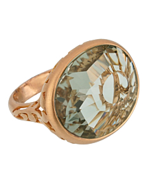 Pomellato 10.19 Carat Prasiolite Cocktail Rose Gold Ring Sz 7