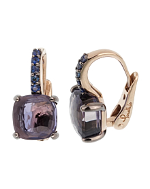 Pomellato 3.84 Carat Iolite Sapphire White Gold Earrings - Pomellato Jewelry