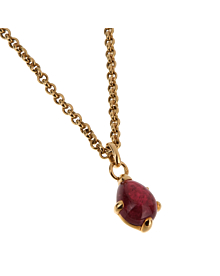 Pomellato Yellow Gold Pink Tourmaline Pendant Necklace - Pomellato Jewelry