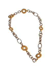 Pomellato White & Yellow Gold Heavy Link Necklace - Pomellato Jewelry