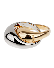 Pomellato White & Yellow Gold Cocktail Dome Ring - Pomellato Jewelry