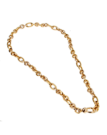 Pomellato White & Yellow Gold Heavy Chain Necklace - Pomellato Jewelry