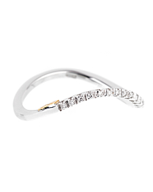 Recarlo Wave Diamond White Gold Ring