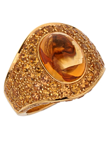 Roberto Coin 10.9ct Citrine Pave Cocktail Gold Ring - Roberto Coin Jewelry