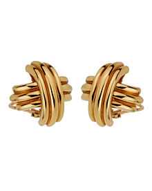 Tiffany & Co Crisscross Large 18k Yellow Gold Earrings - Tiffany and Co Jewelry