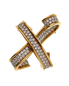Tiffany & Co. Paloma Picasso Diamond X Brooch
