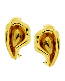 Tiffany & Co Calla Lily 18k Yellow Gold Earrings - Tiffany and Co Jewelry