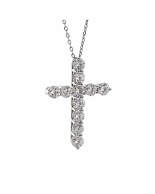 Tiffany & Co Diamond Cross Platinum Necklace - Tiffany and Co Jewelry