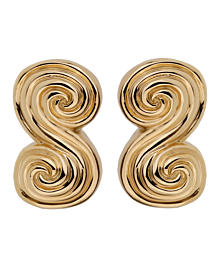 Tiffany & Co Scroll 18k Yellow Gold Clip On Earrings - Tiffany and Co Jewelry