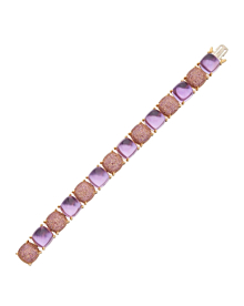 Tiffany & Co Amethyst Sugar Stacks Gold Bracelet