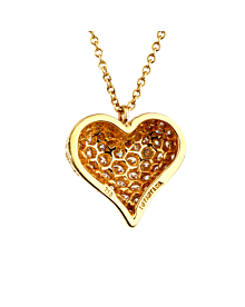 Tiffany Co Diamond Heart Gold Necklace - Tiffany and Co Jewelry