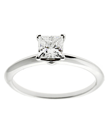 Tiffany & Co Princess Cut Diamond Engagement Ring