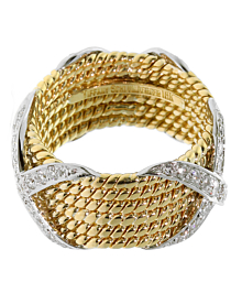 Tiffany & Co Schlumberger 6 Row Rope Diamond Ring 2
