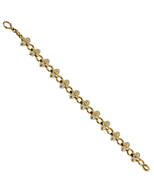 Tiffany & Co Vintage Pearl Yellow Gold Bracelet - Tiffany and Co Jewelry
