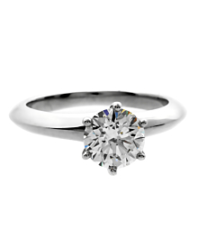 Tiffany & Co Solitaire Diamond Engagement Ring - Tiffany and Co Jewelry