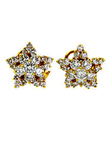 Tiffany & Co Star Diamond Gold Earrings