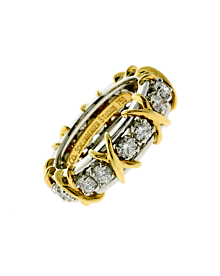 Tiffany Co Schlumberger Diamond Gold Ring - Tiffany and Co Jewelry