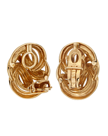 Tiffany & Co Braided 18k Yellow Gold Clip On Earrings - Tiffany and Co Jewelry