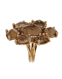 Tous Smoky Quartz Yellow Gold Cocktail RIng