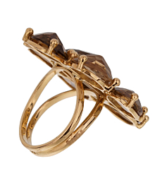 Tous Smoky Quartz Yellow Gold Cocktail RIng - Tous Jewelry