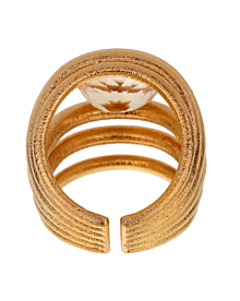 Tous Quarts Yellow Gold Cocktail Ring - Tous Jewelry