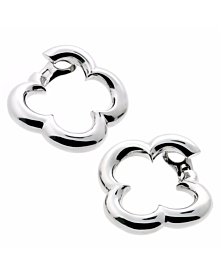 Van Cleef & Arpels Alhambra White Gold Earrings