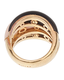 Van Cleef Arpels Angel Skin Coral Bombe Yellow Gold Ring - Van Cleef and Arpels Jewelry