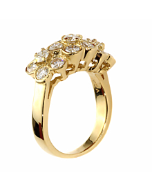 Van Cleef and Arpels Fleurette Diamond Gold Ring - Van Cleef and Arpels Jewelry