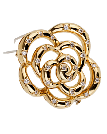 Van Cleef Arpels Flower Diamond Gold Brooch - Van Cleef and Arpels Jewelry