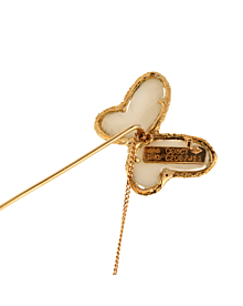 Van Cleef Arpels White Coral Gold Butterfly Brooch