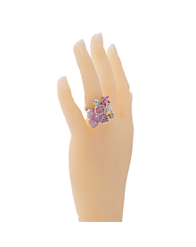 Van Cleef Arpels Melia Pink Sapphire Diamond Floral Motif Ring - Van Cleef and Arpels Jewelry