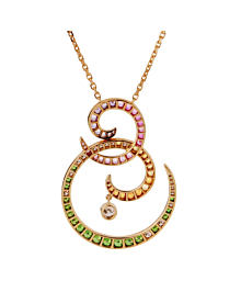 Van Cleef & Arpels Oiseaux De Paradis Sapphire Diamond Pendant Necklace - Van Cleef and Arpels Jewelry