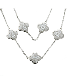 Van Cleef & Arpels Pure Alhambra Diamond Necklace - Van Cleef and Arpels Jewelry