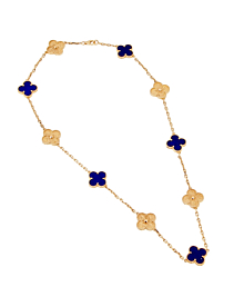 Van Cleef & Arpels Lapis Limited Edition Gold Necklace - Van Cleef and Arpels Jewelry