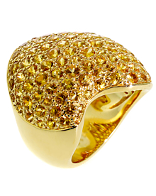 Van Cleef & Arpels Pave Golden Sapphire Gold Ring - Van Cleef and Arpels Jewelry
