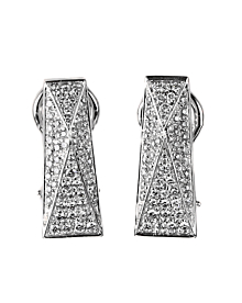Versace White Gold Diamond Earrings