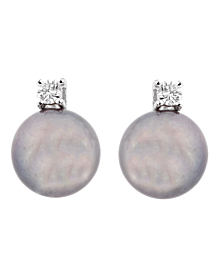 Salvini Pearl Diamond 18k White Gold Earrings - Salvini Jewelry